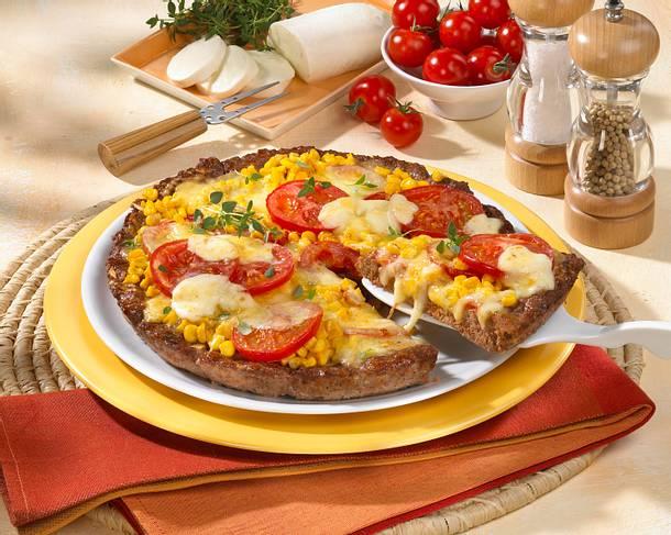 Hack-Pizza mit Mais & Tomaten Rezept