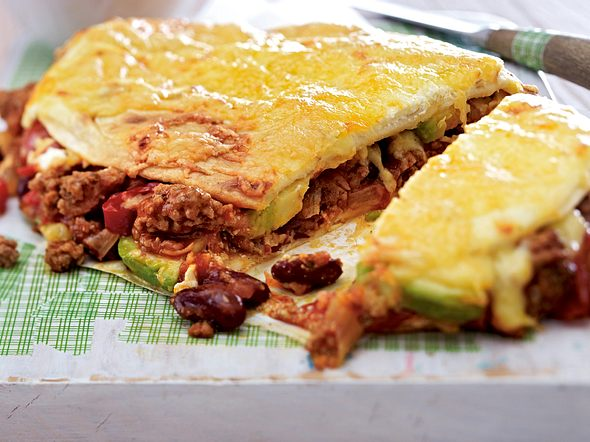 Hack-Quesadillas mit Avocado Rezept