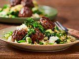 Hackbällchen mit Couscous-Salat Rezept