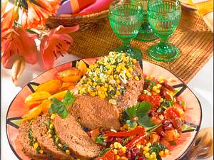 Hackbraten mit Chilli-Gemüse Rezept