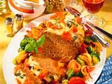 Hackbraten mit Tomaten und Mozzarella Rezept