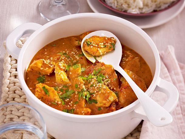 Hähnchen-Curry mit Reis Rezept