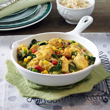 Hähnchen-Curry zu Reis Rezept