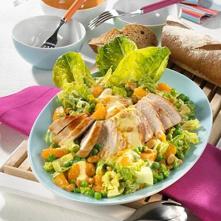 Hähnchen-Currysalat mit Erdnüssen Rezept