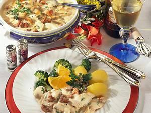 Hähnchen-Frikassee mit Pilzen Rezept