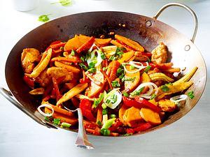 Hähnchen-Gemüsepfanne Rezept