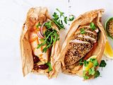 Hähnchen in Backpapier: Honig-Dukkah-Huhn Rezept