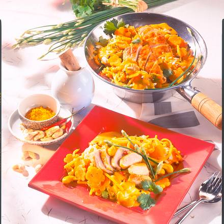 Hähnchen in Curry-Cashew-Soße Rezept
