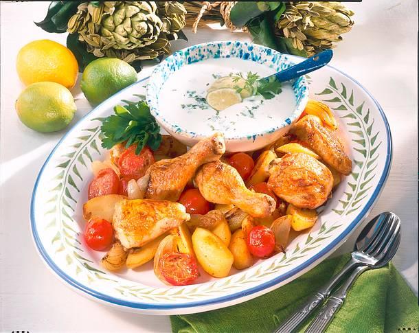 Hähnchen in Limetten-Joghurtsoße Rezept