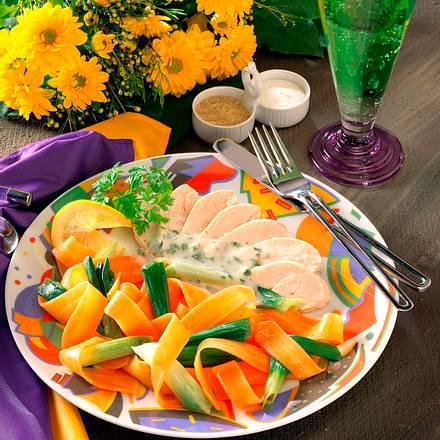 Hähnchen in Zitronensud mit Gemüse Rezept
