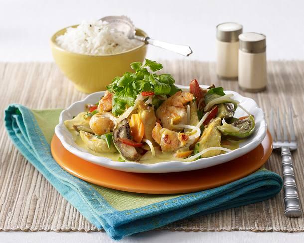 Hähnchen-Kokos-Curry Rezept