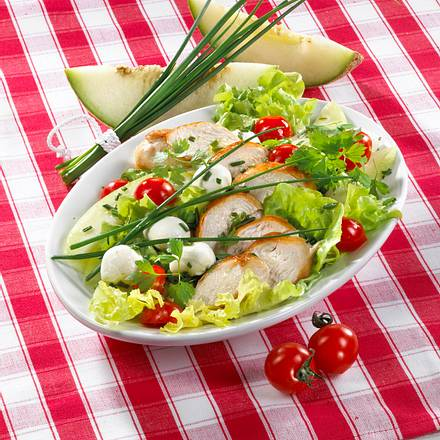 Hähnchen-Melonen-Kerbelsalat Rezept