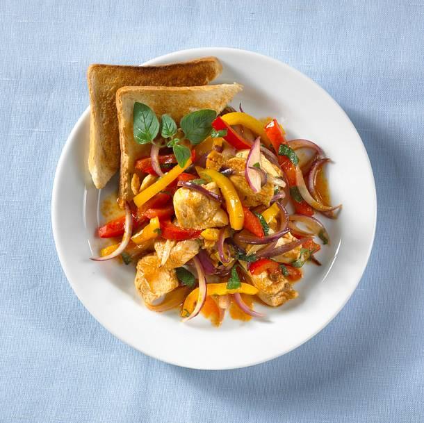 Hähnchen-Paprika-Pfanne Rezept