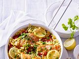 Hähnchen-Pfanne mit Gabelspaghetti Rezept