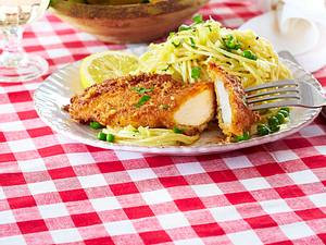Hähnchen-Piccata mit Spaghetti Rezept