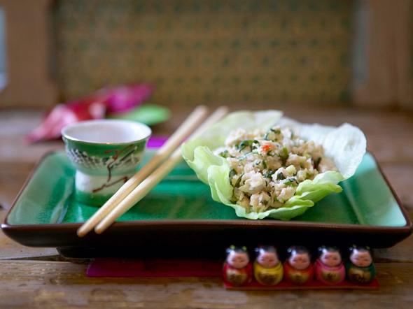 Hähnchen-Reis-Salat mit Minze und Koriander Rezept