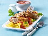 Hähnchen-Rouladen mit Schinken-Käse-Füllung Rezept