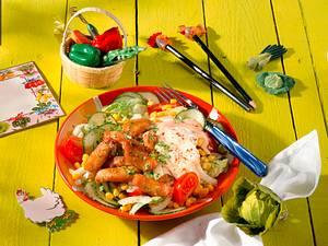 Hähnchen-Salat mit Joghurtsoße Rezept