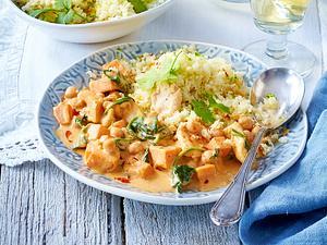 Schnelles Hähnchen-Süßkartoffel-Curry Rezept