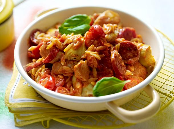 Hähnchen-Tomaten-Pfanne Rezept