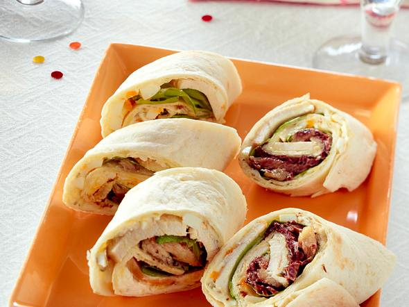 Hähnchen-Wraps mit Roquefort Rezept