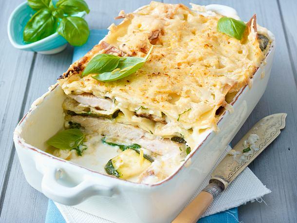 Hähnchen-Zucchini-Lasagne Rezept
