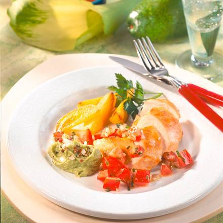Hähnchenbrust mit Avocadocreme (Diabetiker) Rezept