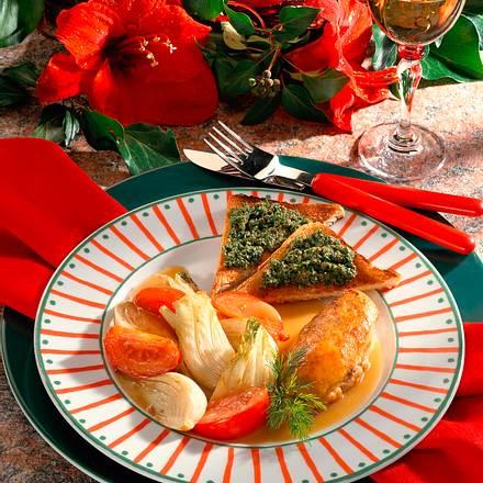 Hähnchenbrust mit Fenchel-Tomaten-Gemüse Rezept