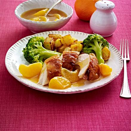 Hähnchenbrust mit Mandarinensoße Rezept