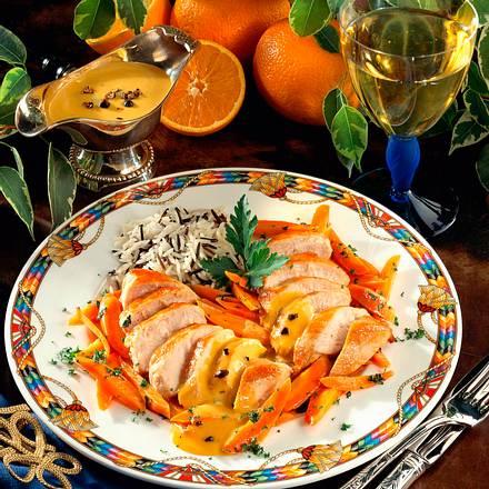 Hähnchenbrust mit Orangen-Wacholdersoße Rezept