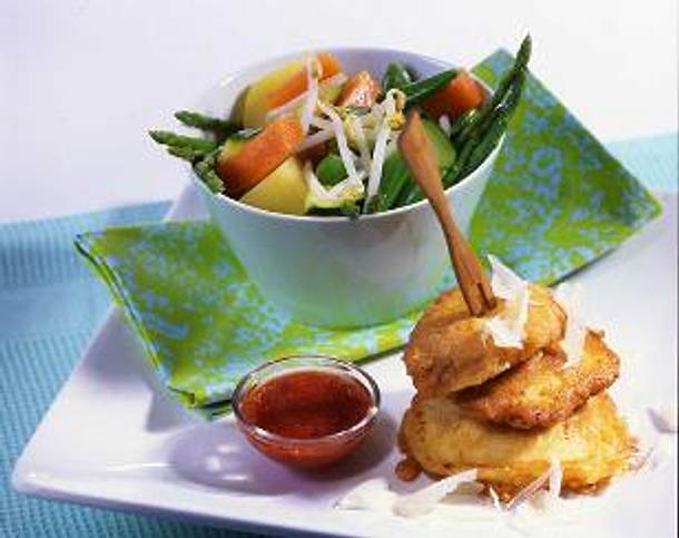 Hähnchenbrust-Piccata mit warmem Gemüsesalat Rezept