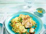 Hähnchenfilet auf asiatischem Krautsalat Rezept