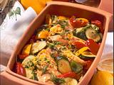 Hähnchenfilet auf Schmorgemüse Rezept