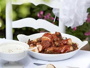 Hähnchenfilet im Serranomantel mit Sherrysoße Rezept