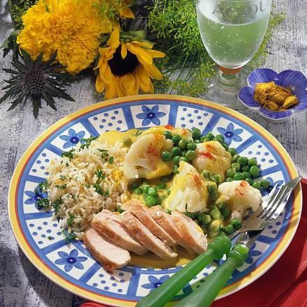 Hähnchenfilet mit Blumenkohl-Curry Rezept