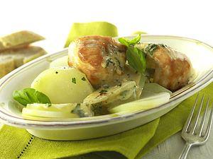 Hähnchenfilet mit Kohlrabi in Kräuter-Käse-Soße Rezept