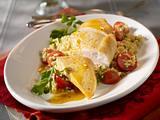 Hähnchenfilet mit Orangensoße und Bulgur-Tomatensalat Rezept