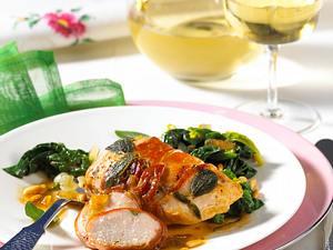Hähnchenfilet mit Salbei-Parmaschinken Rezept