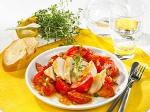 Hähnchenfilet mit Tomatengemüse Rezept