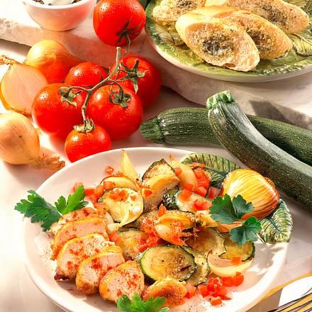 Hähnchenfilet mit Zucchini Rezept