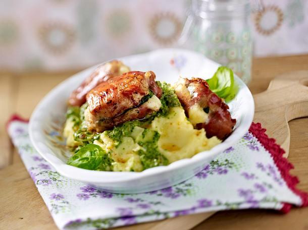 Hähnchenfilet-Schinken-Päckchen mit Mozzarella und Basilikum Rezept