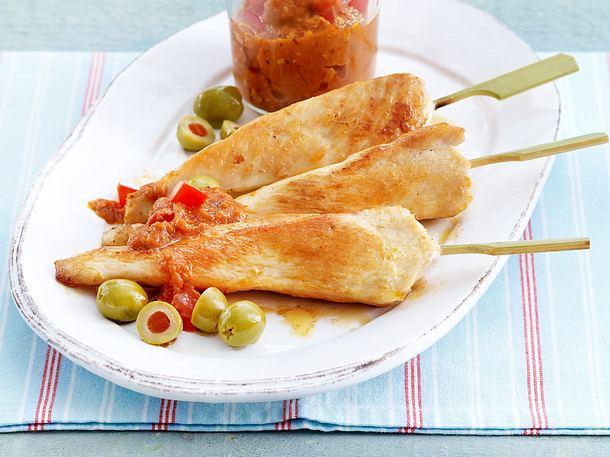 Hähnchenfilet-Spieße mit Tomaten-Pesto Rezept