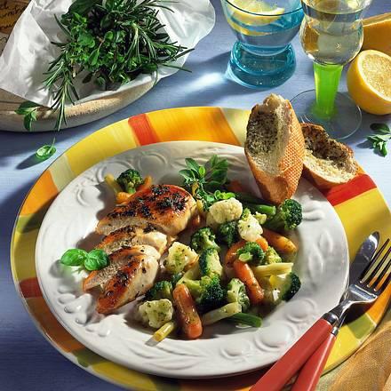 Hähnchenfilet zu buntem Gemüse (Diabetiker) Rezept