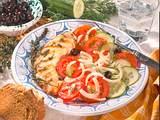 Hähnchenfilet zu griechischem Salat Rezept