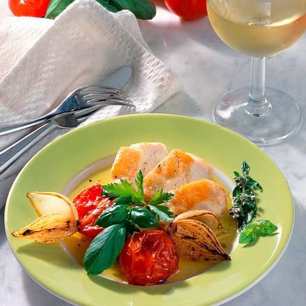 Hähnchenfilet zu süßsaurem Gemüse Rezept