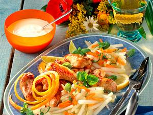 Hähnchenflügel und Gemüse Rezept