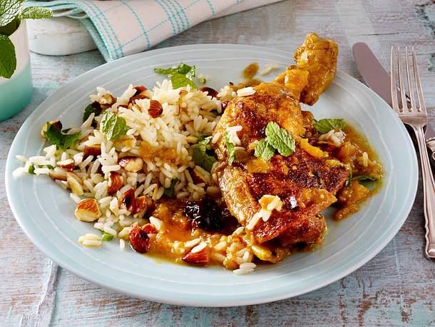 Hähnchenkeulen auf indische Art Rezept