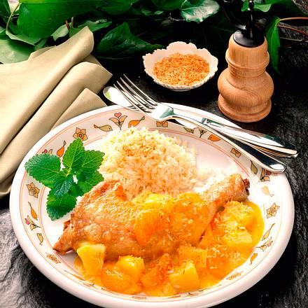 Hähnchenkeulen mit fruchtiger Soße Rezept