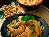 Hähnchenkeulen mit Möhren-Chinakohlgemüse und gebratenem Reis Rezept