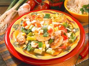 Hähnchennuggets mit Gemüse Rezept